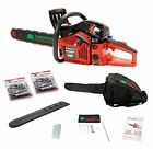 """TIMBERPRO Professional Series 62cc 20"""" Petrol Chainsaw Kit with 2 20"""" saw chains"""