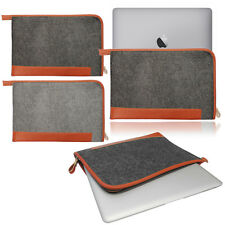 Felt Tan Leather Sleeve Cover Bag Carrying Case for NEW MacBook Pro & Air