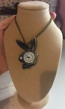 BN Vintage Style Playboy Bunny Watch Necklace