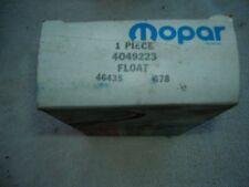 NOS Mopar 4049223 FLOAT 1 Barrel Holley Plymouth Dodge Chrysler 1966-1987