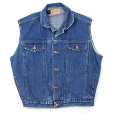VINTAGE Express Sleeveless Jean Jacket Adult Size Small Denim Vest Mens 4 Pocket