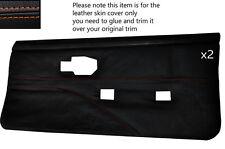 Orange stitch 2 cartes de porte avant pleine peau couvre fits PONTIAC FIREBIRD 90-92
