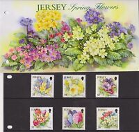 JERSEY PRESENTATION PACK 2009 SPRING FLOWERS STAMP SET 10% OFF 5+