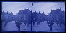 Marktplatz Bremen Niedersachsen Deutschland Allemagne stéréo négative 9x18cm