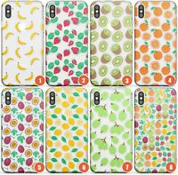Fruity Patterns Slim Phone Case for iPhone | Fruit Cute Transparent Pattern Brig