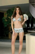 Dreamgirl Reversible Glows in Blacklight  $100 bill Bikini w/Booty Shorts Size L
