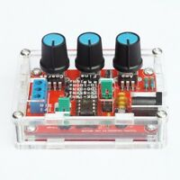 XR2206 Function Generator DIY Kit Sine Triangle Square Output 1HZ-1MHZ Modu+Case