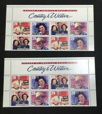 2~US 1/2 Sheet MNH postage Stamps Country & Western Mint