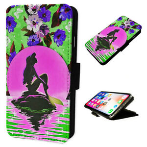 Mermaid Pink Moon - Flip Phone Case Wallet Cover Fits Iphone & Samsung