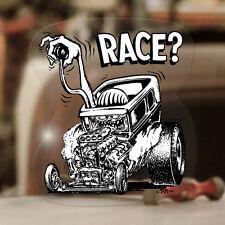 Ed Roth Race? Sticker Original Autocollant Hot Rod Old School Aufkleber Rat Fink