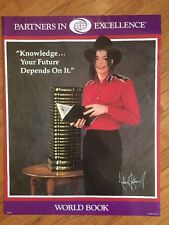 Michael Jackson 1980's Era World Book Encyclopedia Promo Poster