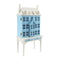Blue 1/144 Scale Doll House Sit 1/12 Scale Miniature Table