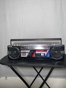 Vintage SHARP WQ-272 Stereo Radio Double Cassette Recorder NOS 1980s Very Rare