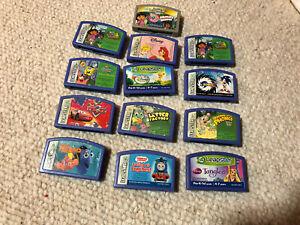 Lot of 13 Leapfrog Leapster Games UNTESTED Sonic Spongebob