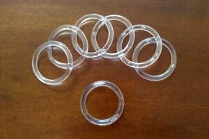 """50 Retail Store Small Clear Acrylic Scarf and Belt Rings 1-1/2"""" 1.5"""" [3.8 cm]"""