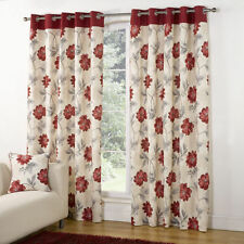 Unbranded Floral Eyelet Top Contemporary Curtains & Pelmets