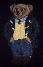 NWT Polo Ralph Lauren Preppy Navy Blue LUXURY TEDDY BEAR Sweater Mens XL Holiday
