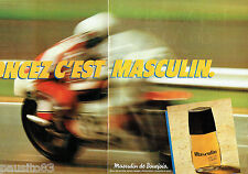 PUBLICITE ADVERTISING 066  1980  Masculin ( 2p)  eau de toilette homme Bourjois