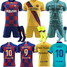 2020 Barcelona Football Kits Soccer Suits Kids Adults Jersey Strip Team Outfits