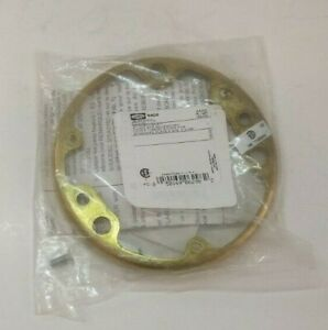"""HUBBELL RACO 4-3/16"""" Round Brass Floor Box Tile Ring (6298) - Prepaid Shipping"""