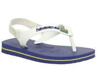 Kids Havaianas Baby Brazil Sandals Marine Blue White Kids