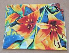 "Bright Multicolor Soft Large Floral Design Blanket Throw or Cover 73"" X 43"""