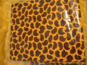 Unbranded Silk Pocket Square - new, paisley, mustard yellow