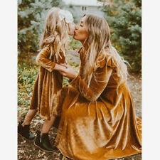 Women Swing Hem Velvet Dress Autumn Ladies Party Dress Velour Dress Long Sleeve
