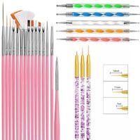 23 Pcs Mandala Dotting Tools Rock Painting Kits Art Pen Paint Stencil Brush UK