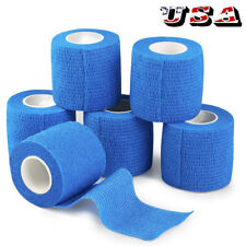 "2""x5yd Stretch Elastic Tape Cohesive Bandage First Aid  Wrap Vet (6 Rolls)US"