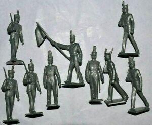 Marx.West Point 60mm Unpainted Plastic figures & paint guide 2 sets (18 figures)