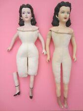 Bisque & cloth dolls to dress ~ Shackman?