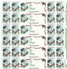American Lung Association 1985 Season Greetings Christmas Seals 24 Seals