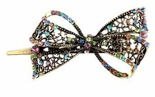 Hair Clip Rhinestone Crystal Bling Butterfly Bow tie Heart Shape H5H5