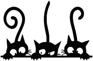 LARGE CATS  WALL ART DECAL STICKER