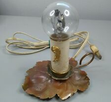 Vintage Aerolux Light Bulb With Glowing Heart W/Orange Flowers & Green Leaves