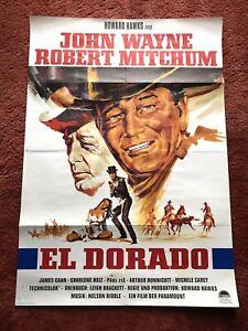 El Dorado Kinoplakat Poster A1, EA, John Wayne, Robert Mitchum, Western, Hawks