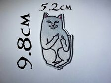 Quality Iron/Sew on Ripndip patch rude cat ACAB LORD NERMAL RIP N DIP Meow crazy