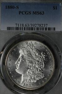 Beautiful Uncirculated 1880-S Morgan Dollar PCGS MS63!