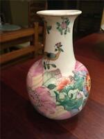 Antique Porcelain Floral Vase