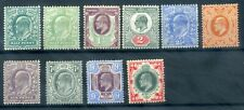 GB 1902-10 MH selection few toned perfs all appear to be DLR