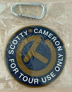 Scotty Cameron Navy Blue & Gold Circle T For Tour Use Only Putting Disc Bag Tag