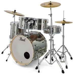 """Pearl Export EXX725SBR/C21 Schlagzeug Drumset 22"""" Bass Drum Becken Hardware Set"""