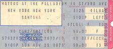 Carlos SANTANA Palladium Theater NYC November 25th, 1979 Ticket Stub