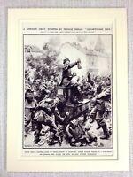 1914 WW1 Aufdruck Deutsche Invasion Von Frankreich Plünderung Hotel De Paris