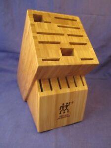 Zwilling J.A. Henckels 16 slot Bamboo Knife Storage Block #1