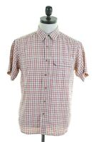 THE NORTH FACE Mens Shirt Short Sleeve Small Multi Check Modal  FN13