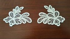 FRENCH LACE MOTIF, APPLIQUE, TRIM WITH CORD FINISH IN IVORY COLOUR.