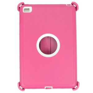 Pink For iPad Mini 5 Defender Case w/ Stand Holder & Built in Screen Protector