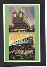 ADVERTISING POSTCARD - SOUTHERN ELECTRIC RAILWAYS - DALKEITH SERIES